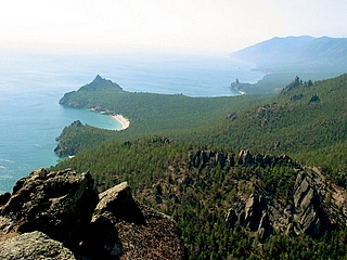 Sandy bay, Western shore of Baikal lake