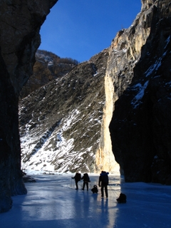 Trekking in the mysterious canyon of Irkut