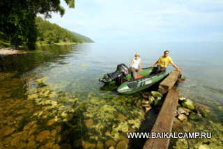 Boat excursions at Lake Baikal
