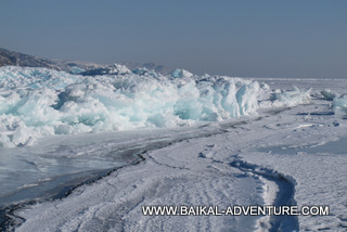 Amazing ice structures of wintry Baikal